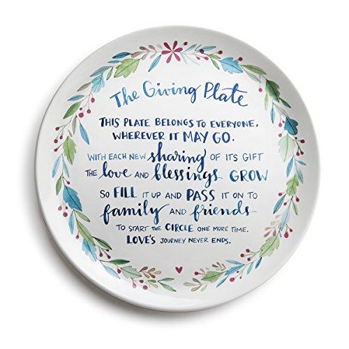 DEMDACO Traditional Ceramic Giving Plate, Multicolor