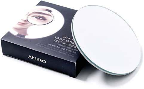 Amiro 4 Inch Detail Makeup Mirror with 7x Magnification, Adsorbable and Magnetic