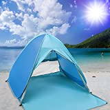 Nowus Pop Up Beach Tent, Automatic Anti UV Beach Shade Portable Folding Tent Curtain Sun Shelters Outdoor Garden Camping Fishing Picnic