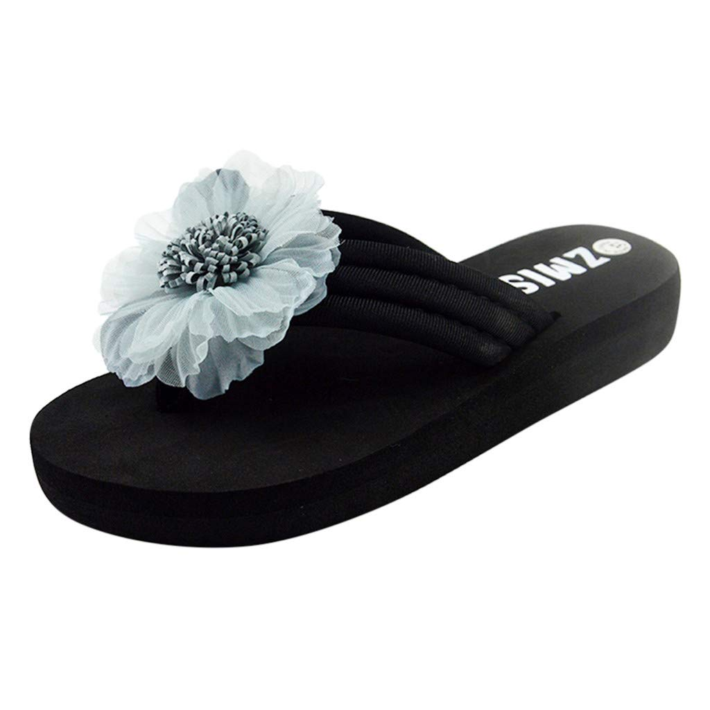 Women's Flowers Home Slippers - Beach Shoes Sandals Flip Flops Ladies Summer Slippers,2019 New