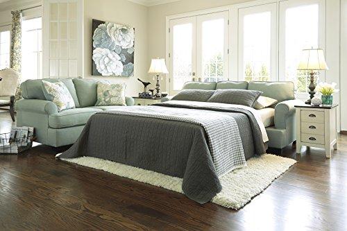 Daystar Contemporary Blue Fabric Queen Sofa Sleeper