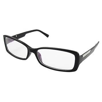 DealMux Woman Man Plastic Black Full Rim Clear Lens Spectacles Eyewear Boys T-Shirts, Shirts & Polos