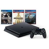 Console Playstation 4 Mega Pack Hits Bundle V7 3 jogos Controle DualShock 4 CUH-2214B - Sony