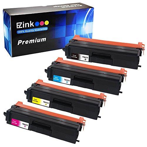 E-Z Ink (TM) Compatible Toner Cartridge For Brother TN-433 TN433 TN 433 TN431 High Yield (1 Black, 1 Cyan, 1 Magenta, 1 Yellow) 4 Pack Compatible with HL-L8260CDW HL-L8360CDW HL-L8360CDWT MFC-L8900CDW