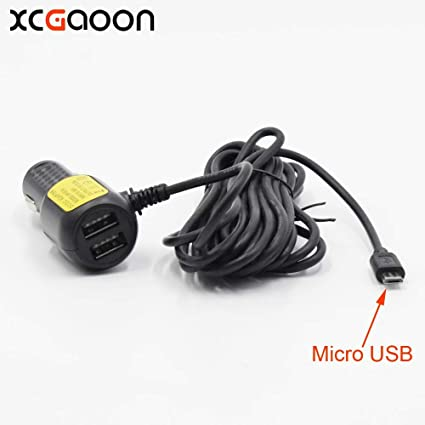 Aircus 3.5meter 5V 3.5A mini USB Car Charger with 2 USB Port for Car DVR Camera GPS Video Recorder Mobile 36V input DC 8V