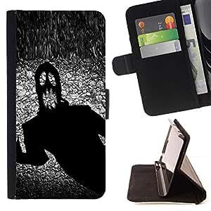 Momo Phone Case / Flip Funda de Cuero Case Cover - Monster fantasma de Halloween Negro Tinta Terror Scary - Sony Xperia Z2 D6502
