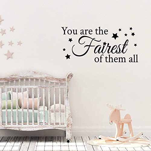 Dozili Wall Decal Quote You are The Fairest of Them All Vinyl Wall Art Sticker 28