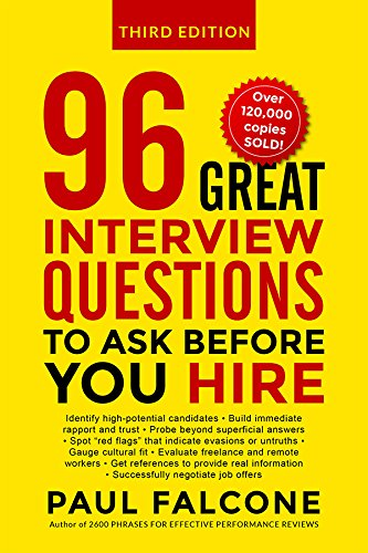 96 Great Interview Questions to Ask Before You Hire (Tough Interview Questions And Best Answers For Managers)
