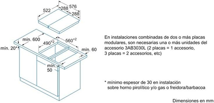 Balay 3EB6030LS - Placa Modular 3Eb6030Ls Freidora: Amazon.es: Hogar