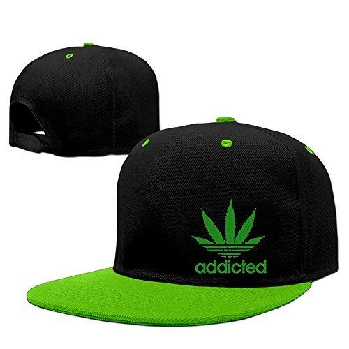 - Addicted Cannabis Weed Leaf Caps Man's Hip Hop Vintage Snapbacks Printed Adjustable Snapback Hats