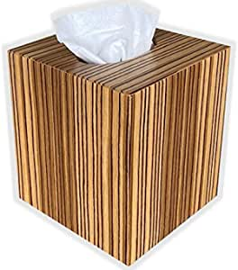 Green Acorn wooden Tissue box cover