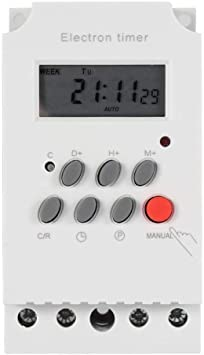 AC-DC24V Interruptor temporizador digital 30A Control de tiempo electr/ónico programable