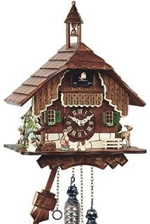 Engstler Uhren-Park 429 Q Eble Reloj de Madera con Mecanismo de Cuarzo y Campana