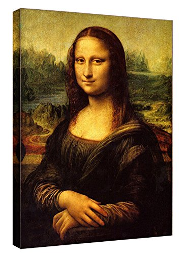 Eliteart-Mona Lisa by Leonardo Davinci Oil Painting Reproduction Giclee Wall Art Canvas Prints ()