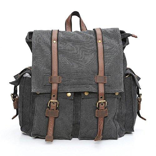 LJ&L Europäischen Stil Rucksack, jugendlich Outdoor-Klettern Wandern Rucksack Handtasche, Leinwand reißfeste solide Verschleiß-resistenten High-End-Rucksack A