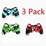 Sudroid 3 Pack High Quality Premium Super Grip Glow Black Blue Silicon Protective Skin Case Cover for Sony Playstation PS3 Remote Controller For Sale