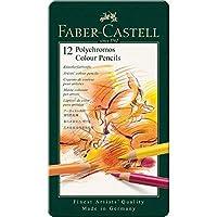 Faber Castell F110012 Polychromos Color Lápices Lata De 12