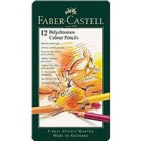 Lápis de Cor Polychromos 12 Cores, Faber-Castell