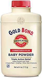 Gold Bond Cornstarch Plus Baby Powder, 4 Ounces