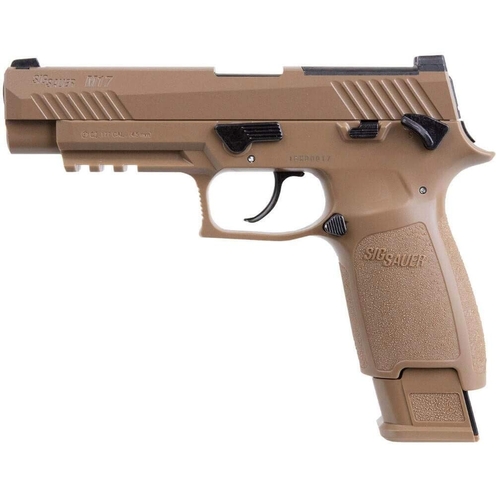 Sig Sauer M17 CO2 Air Pistol, 20 Round, Coyote