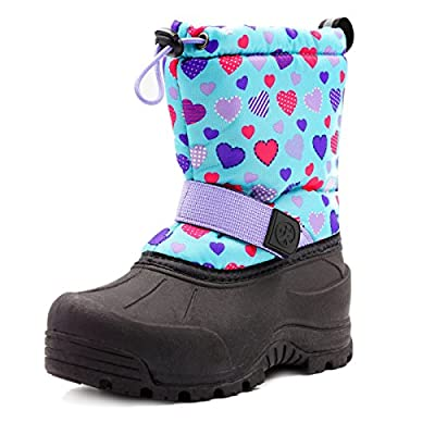 Northside Kid's Frosty Winter Snow Boot, Purple/Aqua, 2 M US Little Kid
