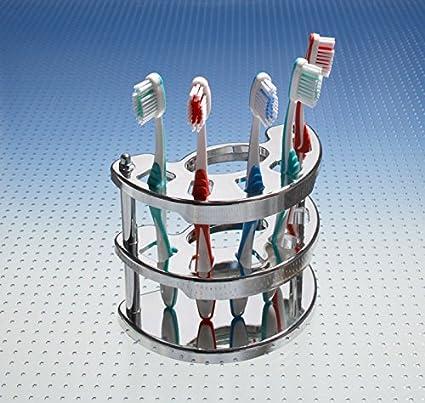 Vaso para cepillos de dientes para de mano en forma de cepillo de dientes y pasta