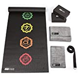 Fit Spirit Yoga Starter Set Kit – Includes 6mm PVC Exercise Mat, Yoga Blocks, Yoga Towels, Yoga Strap Black For Sale