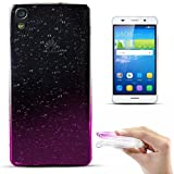 Zooky® Ultra thin & soft Premium TPU Raindrop Case / cover for Huawei Honor 4A / Huawei Y6, Transparent / Hot Pink