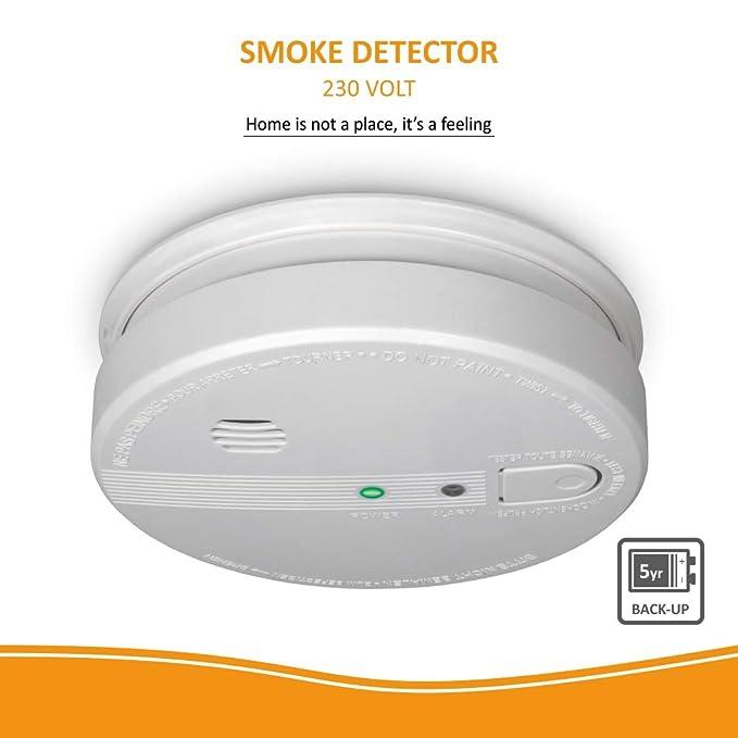 ELRO FS1105P Detector de Humo - 230 Voltios - cableado - conectable en Red con batería de Reserva de 5 años: Amazon.es: Bricolaje y herramientas