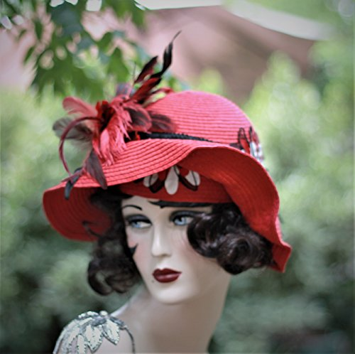 High Fashion Wide Brim Race Hat by Hats by Gail