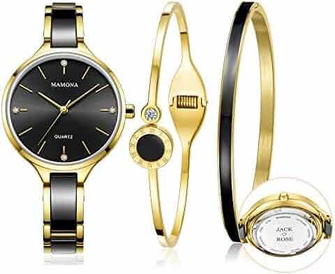 8ba1e02d4710 MAMONA Custom Engraved Watch Set for Women Personalized Gift Women s Watch  Ideas Anniversary Gift Set Perfect
