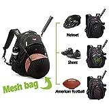 Laptop School Sports Basketball, Volleyball, Football, Softball Backpack Bags Black