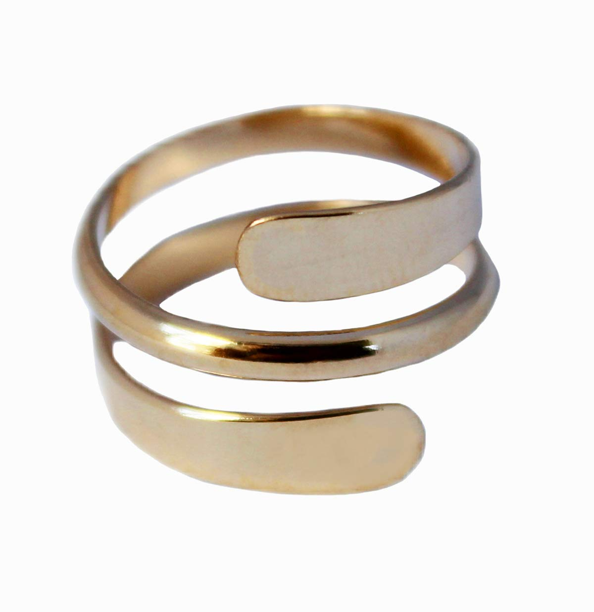 Toe Ring | 14K Gold Filled Yoga Wrap | Adjustable Ring for Toe or Midi | for Men or Women by Toe Rings and Things