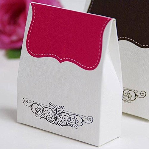 Efavormart 100 Tapestry Favor Box for Candy Treat Gift Wrap Box Party Favor Boxes for Bridal Shower Anniverary Wedding Party-Fushia
