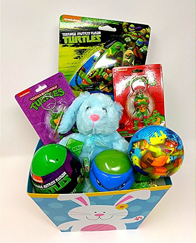 Happy Easter Basket Kids Toddlers Gift Children Pre Made Eggs Goodies Candy Baskets Teenage Mutant Ninja Turtles