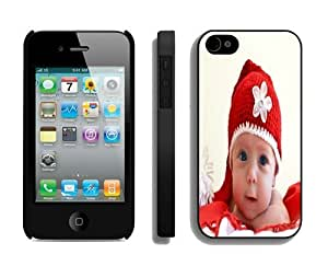 Popular Design Christmas Baby Black iPhone 4 4S Case 1