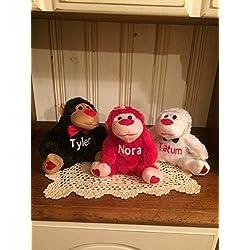 Personalized Valentine's Day Plush Gorilla / Monkey Stuffed Toy