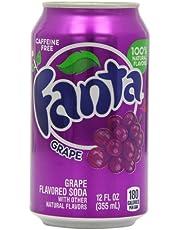 Fanta Grape Soda Can, 12 x 355 Milliliters