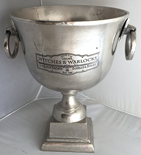 large grave yard cellars halloween witches warlocks cauldron brewed bubbled boiled trophy cup engraved barware champagne bucket
