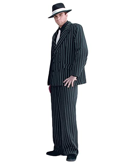 1940s Men's Suit History and Styling Tips Tabis Characters Mens Gangster Clyde Theater Costume $199.99 AT vintagedancer.com