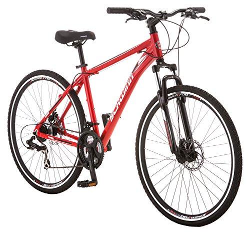 Schwinn GTX 2.0 700c Men's Dual 18 Sport Bike, 18-Inch/Medium, Red by Schwinn (Image #2)