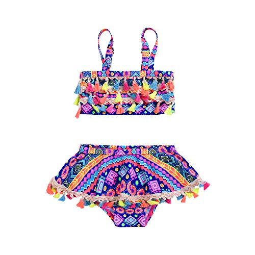 Toddler Baby Girl Swimsuit 3T Two Piece Swimming Bathing Tankini Beach Skirt Set