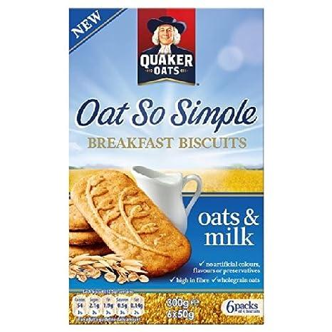 Quaker Oats Desayuno Galletas y Leche 6 x 50g: Amazon.es: Hogar