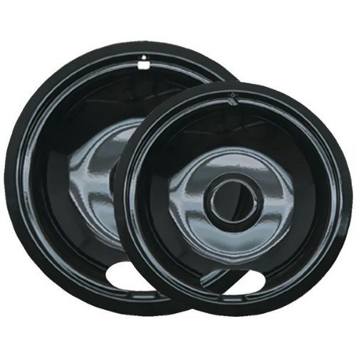 Range Kleen P12782Xcd5 Style A Black Porcelain Drip Pans, 2-Pack (Electric Stove Black Drip Pans compare prices)