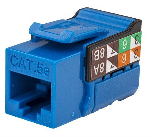 V-Max Series Blue Color - CAT5E RJ45 Keystone Jack 50 pack