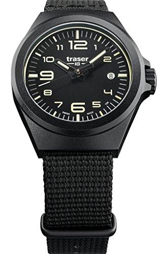 traser P59 Essential S Black Dial Black NATO Strap Unisex Watch 108212
