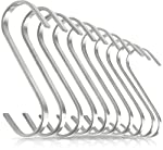 Pro Chef Kitchen Tools Premium S Shaped Hooks in 10 Pack Stainless Steel Metal