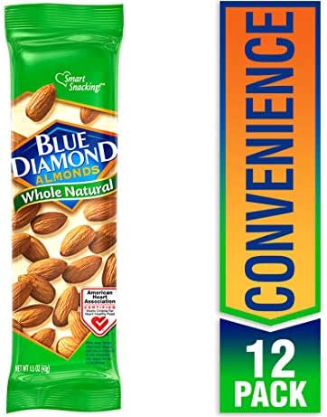 Nuts & Seeds: Blue Diamond Whole Natural Snack Tubes
