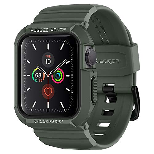 Spigen Rugged Armor Pro Designed for Apple Watch Case 40mm Series 5 / Series 4 - Military Green