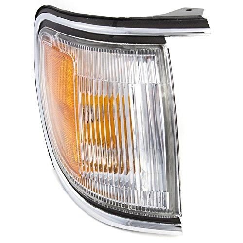 CarPartsDepot Fit 1996-1998 Nissan Pathfinder W/Chrome Trim Side Marker Light RH NI2551129